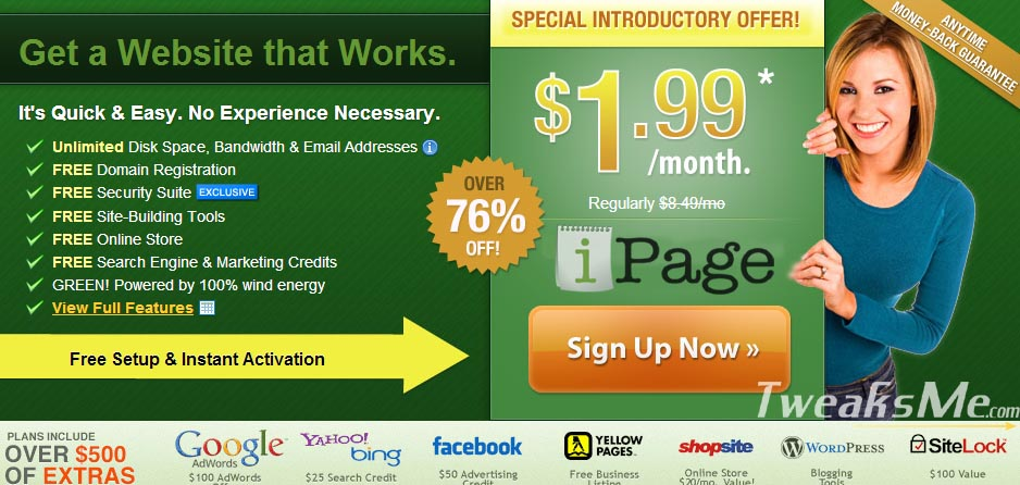 83% OFF iPage 2020 Coupon code – $1.99/month hosting