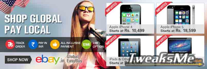 Buy Imported Products with Ebay in India